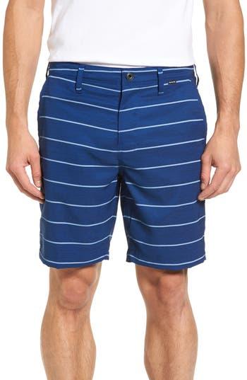Hurley Stripe Dri-Fit Shorts, Blue