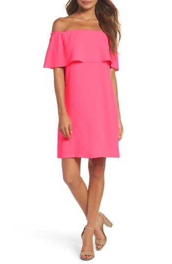 Charles Henry Off The Shoulder Dress, Pink