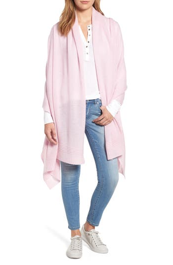Women's Halogen Ottoman Rib Cashmere Wrap, Size One Size - Pink