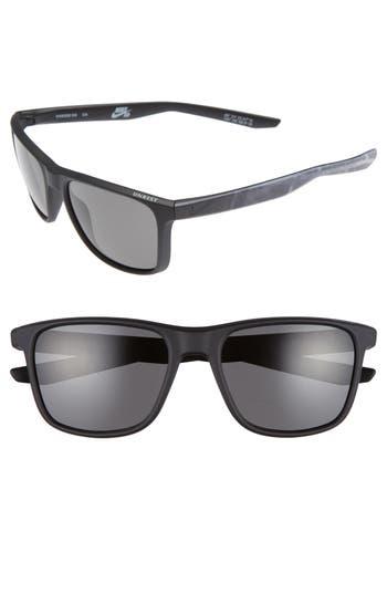 Nike Unrest Se 57Mm Sunglasses - Matte Black/ Deep Pewter
