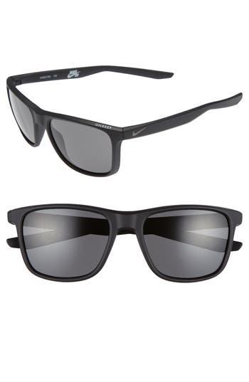 Nike Unrest 57Mm Sunglasses - Matte Black/ Tumbled Grey