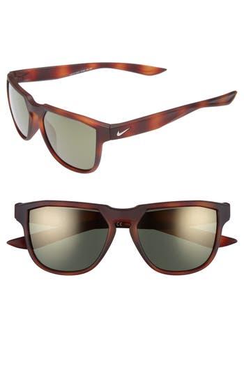 Nike Fly Swift 57Mm Sunglasses - Matte Tortoise/ Gunmetal