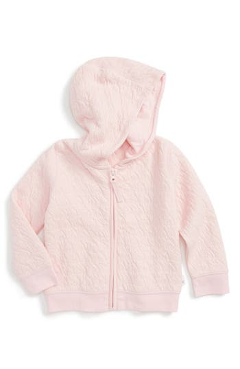 Infant Girls Burts Bees Baby Quilted Organic Cotton Hooded Jacket