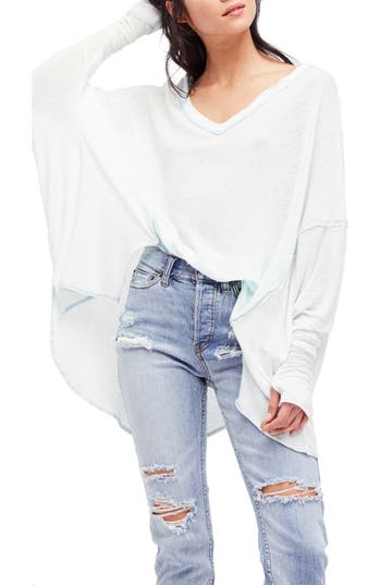Free People Never Give Up Tee, Blue