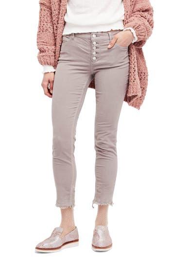 Free People Reagan Crop Skinny Jeans, Grey
