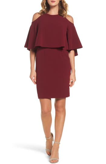 Adrianna Papell Cold Shoulder Dress, Red