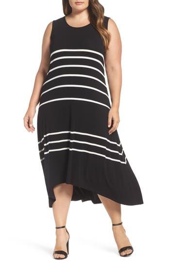 Plus Size Vince Camuto Stripe Tank Dress, Black