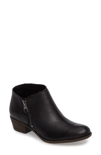 Lucky Brand Brielley 2 Asymmetrical Bootie, Black