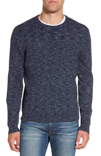 Nordstrom Shop Donegal Space Dye Nep Sweater, Blue