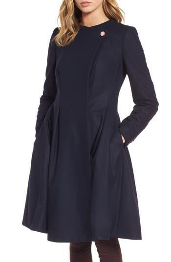 Women's Ted Baker London Wool Blend Asymmetrical Skirted Coat