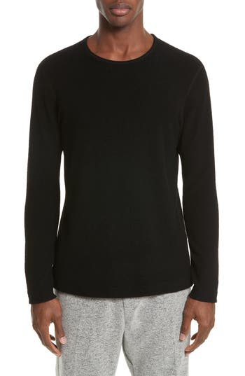 Wings + Horns Felted Wool Blend Sweater, Black
