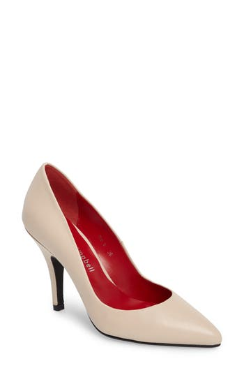 Jeffrey Campbell Sachi Pointy Toe Pump Beige