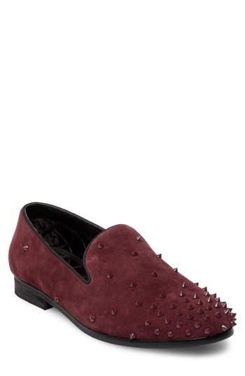 Steve Madden Cascade Studded Loafer, Burgundy