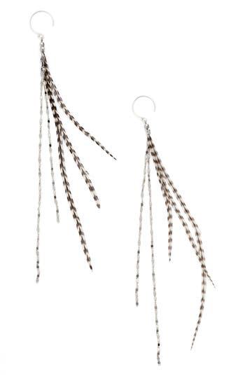 Women's Serefina Glistening Feather Duster Earrings