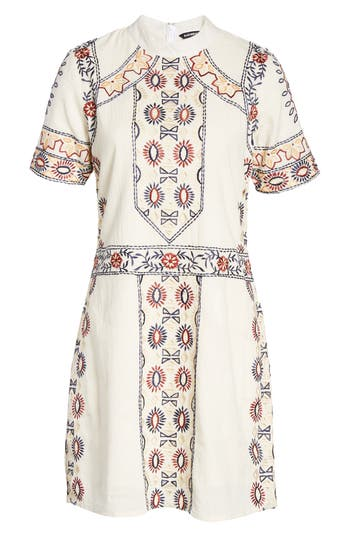 Kas New York Ginger Embroidered Shift Dress