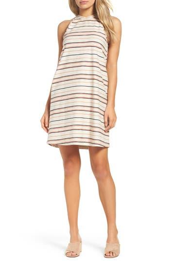 Knot Sisters Field Day Stripe Dress, Beige