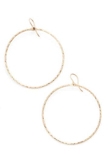 Women's Nashelle Hammered Hoop Earrings