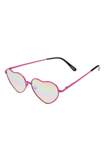 Girl's Capelli Of New York Heart Sunglasses - Pink Combo