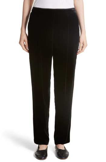 Women's Lafayette 148 New York Soho Velvet Track Pants