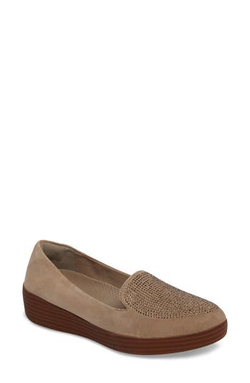 Fitflop Sparkly Sneakerloafer Slip-On, Beige