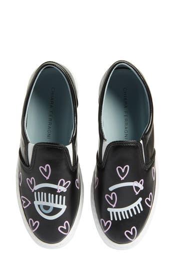 Chiara Ferragni Candy Flirting Slip-On Sneaker Black