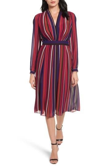Women's Anne Klein Stripe Fit & Flare Dress