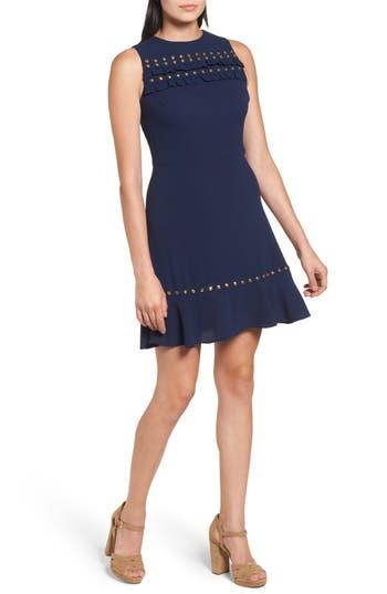 Michael Michael Kors Studded A-Line Dress, Blue