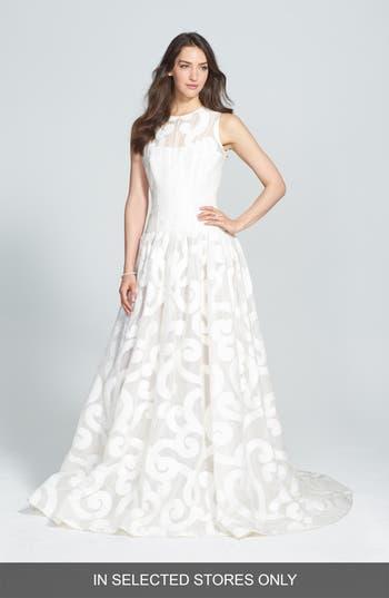 Jesus Peiro Duna Jacquard Organza Drop Waist Dress