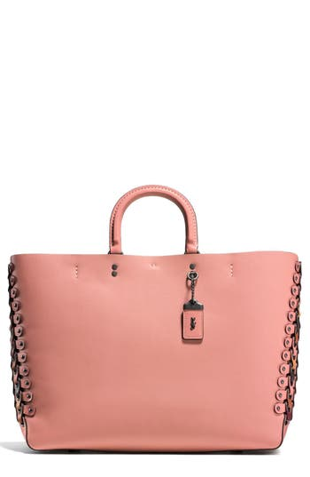Coach 1941 Rogue Linked Leather Tote - Pink