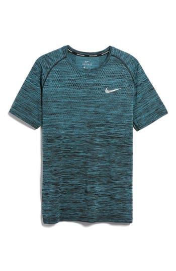 Nike Men Dry Knit Running T-Shirt, Black