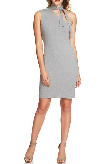 1.state One-Shoulder Body-Con Dress, Grey