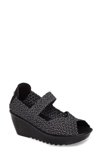 Bernie Mev. Halle Platform Wedge Sandal, Black
