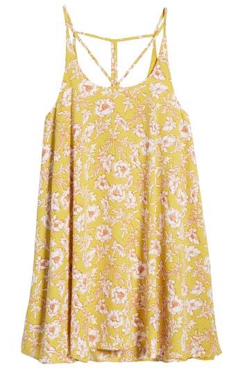 Women's Bp. Print Strappy Slipdress, Size Large - Yellow