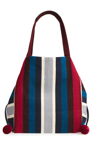 Mercado Global Rosa Woven Tote - Red