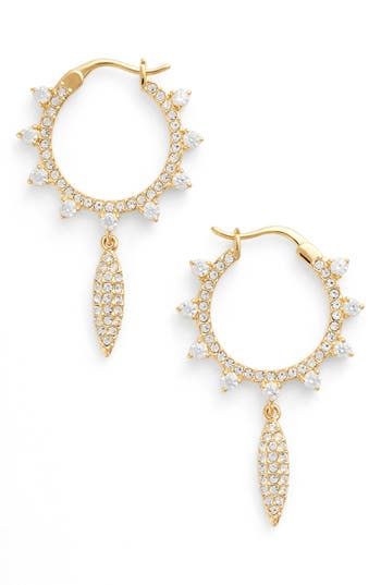 Women's Nadri Cardamom Charm Hoop Earrings