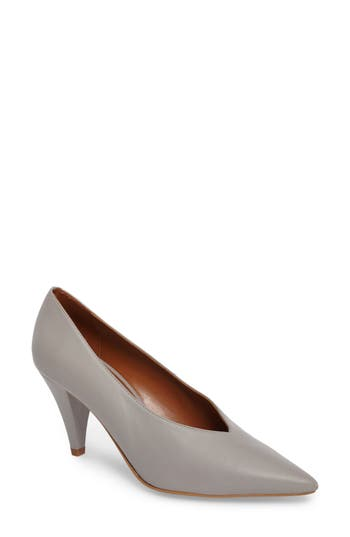 Topshop Journal Pointy Toe Pump - Grey