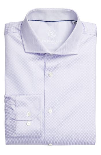 Men's Bugatchi Trim Fit Dot Jacquard Dress Shirt
