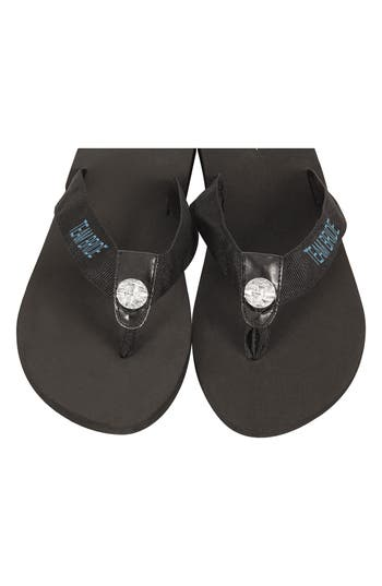 Cathy'S Concepts Team Bride Flip Flops, Size Large - Black