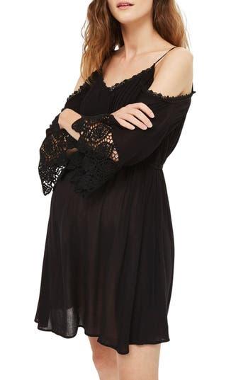 Topshop Cold Shoulder Maternity Sundress, Black