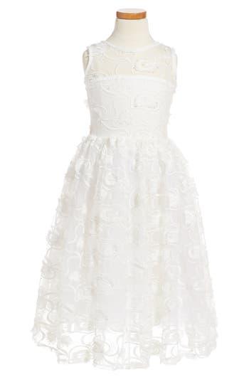 Girl's Fiveloaves Twofish Hepburn Embroidered Dress