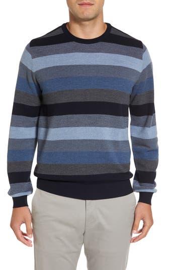 Paul & Shark Stripe Wool Sweater, Blue