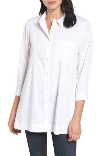 Women's Bobeau Poplin Shirt, Size X-Small - White