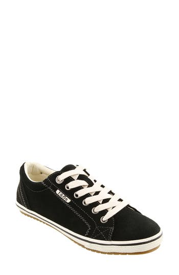 Taos Retro Star Sneaker, Black