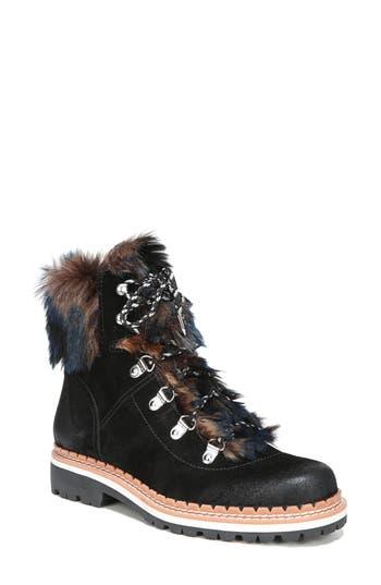 Sam Edelman Bronte Faux Fur Trim Boot, Black