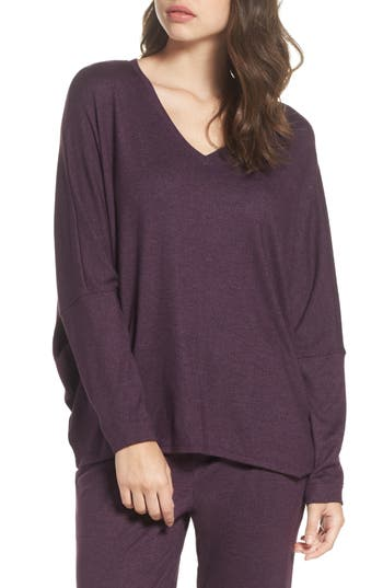 Natori Retreat Sweater Knit Top, Purple