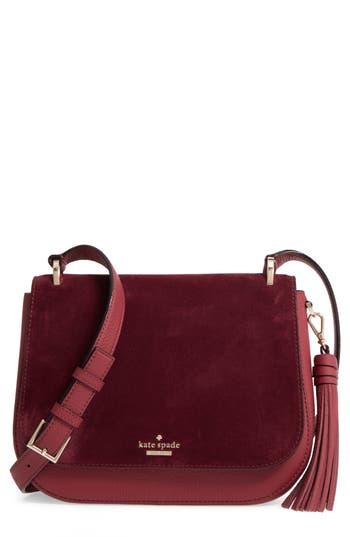 Kate Spade New York Daniels Drive - Tressa Suede & Leather Shoulder/crossbody Bag -