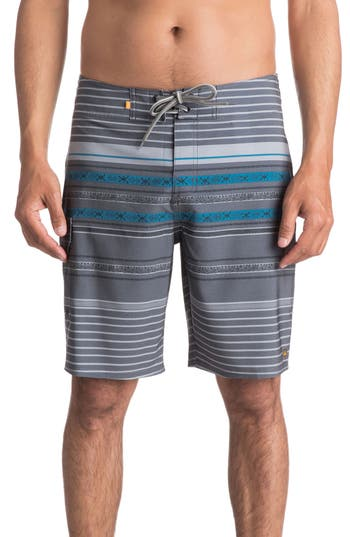 Quiksilver Waterman Collection Inca Stripe Board Shorts, Black