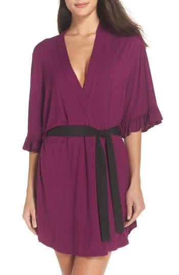 Women's Josie Ruffle Robe, Size X-Small - Purple