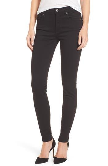 Agolde Sophie High Waist Skinny Jeans, Black