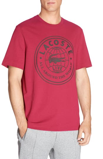 Lacoste Logo Graphic T-Shirt, Red